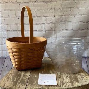 Longaberger Mother's Day Basket 1993 & protector